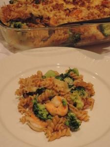 Ovenschotel scampi broccoli