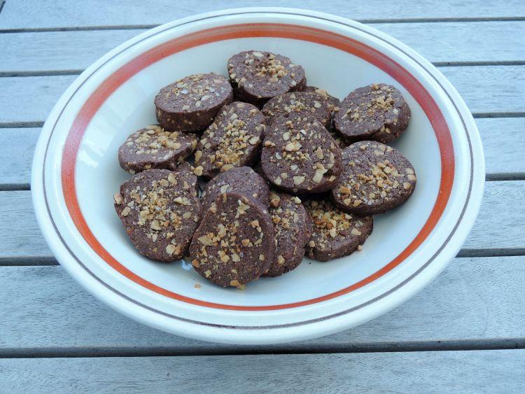 Chocolade koekjes met pinda