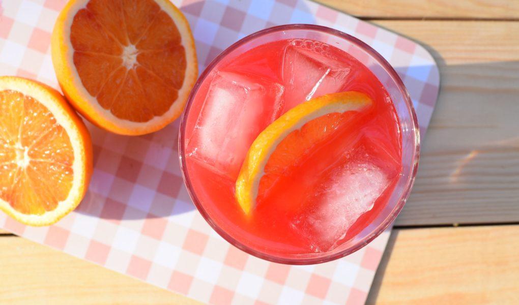 cocktail met bloedsinaasappel
