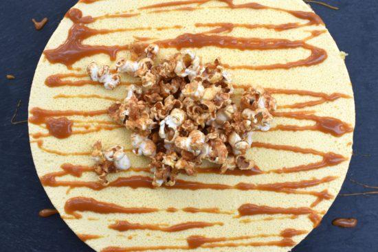 Panna cotta taart van mais - Sweet & salty popcorn