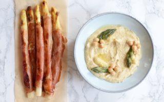 Hummus van asperges - Krokante asperges