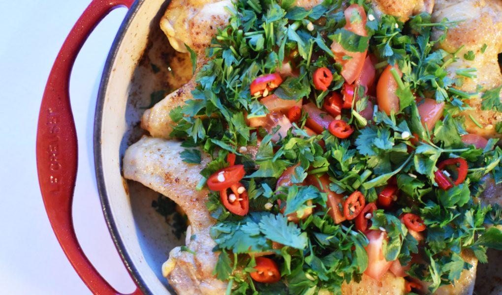 Oosterse tajine met kippenvleugels en bataat - Marley Spoon