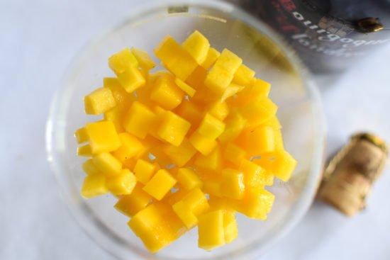 Sabayon met mango en bier