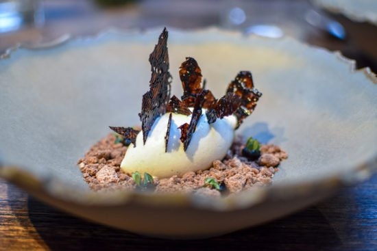 Ijs van knolselder - Chocolade - Tijm - Taxi's Restaurant - Gent - Puur, ruw & verfijnd