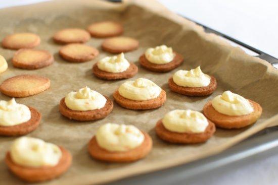 Zandkoekjes - Crème au beurre