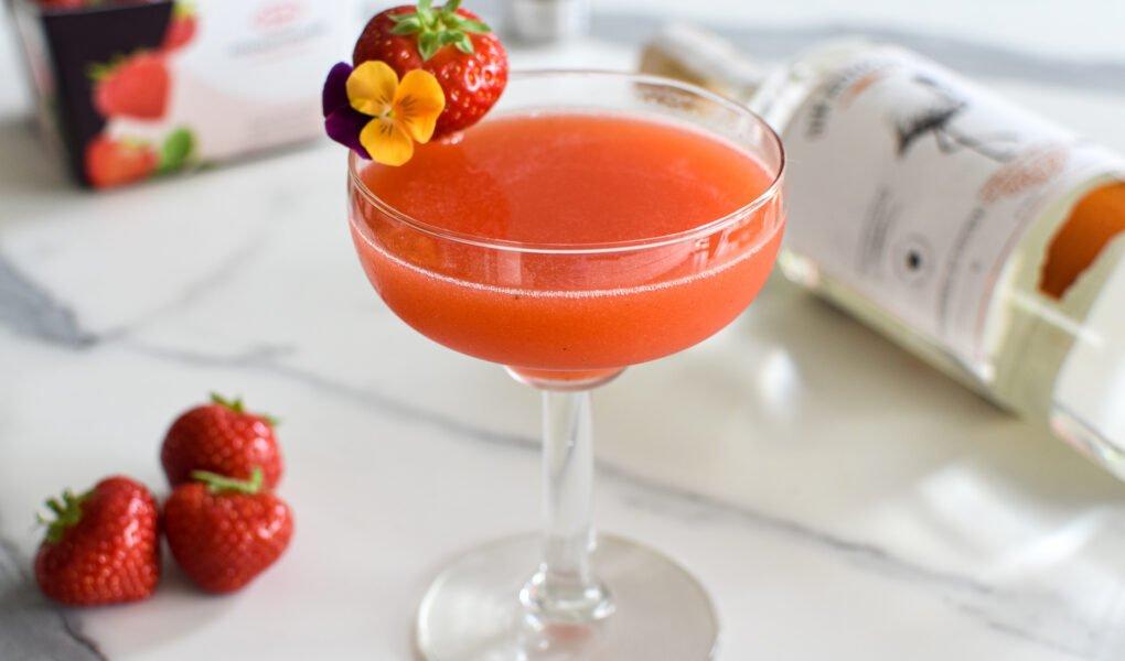 Cocktail: Sir Edmond Gin - Aardbei