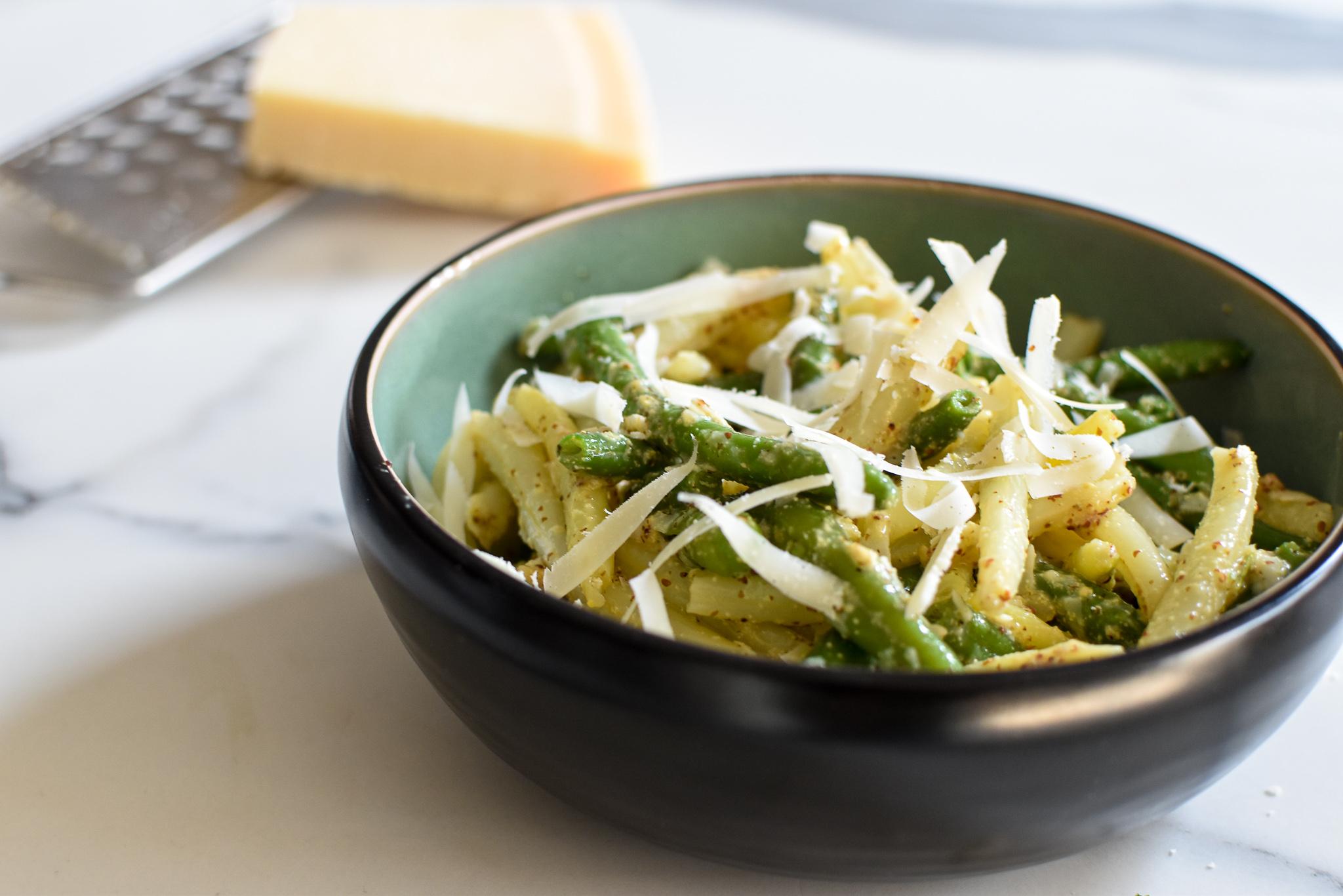 barbecue salade: boontjes en graanmosterd