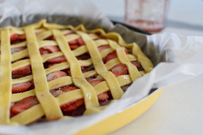 Super snelle confituurtaart met aardbeien