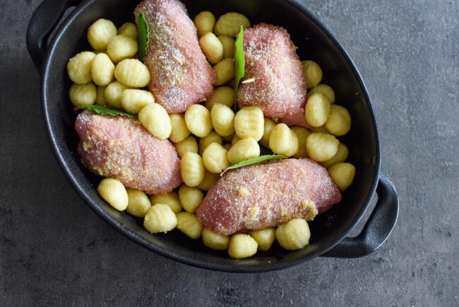 kalfsvlees met gnocchi in de oven