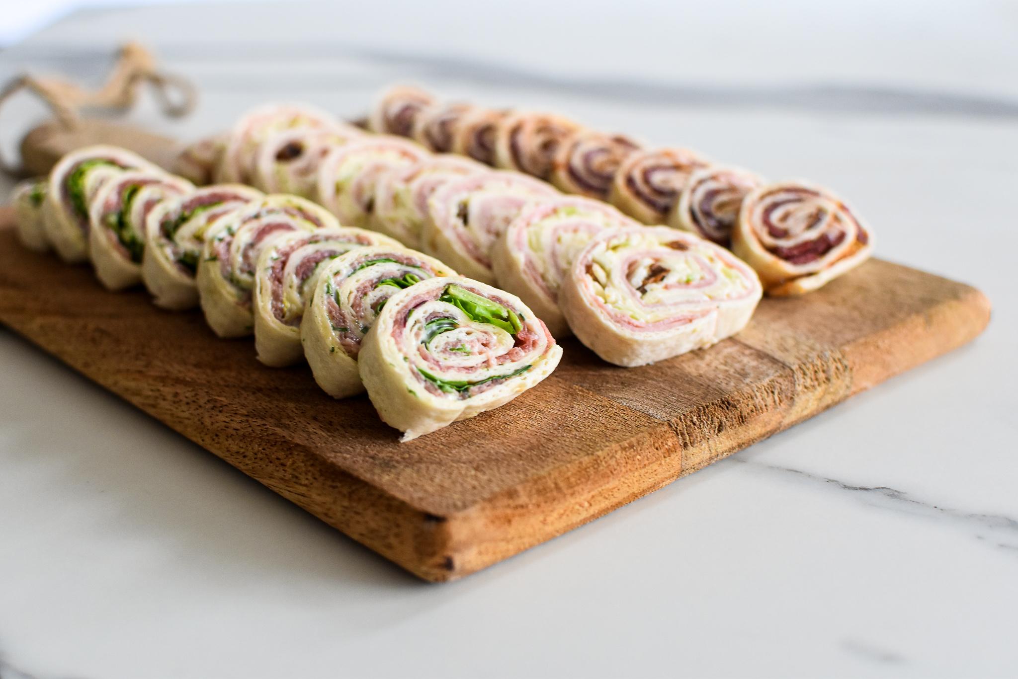 Aperitief wraps met ham, eend en carpaccio