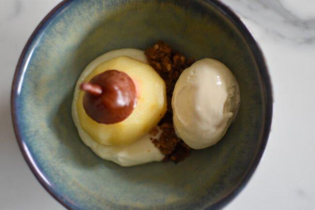 Gepocheerde peer - Vanille - Hazelnoot