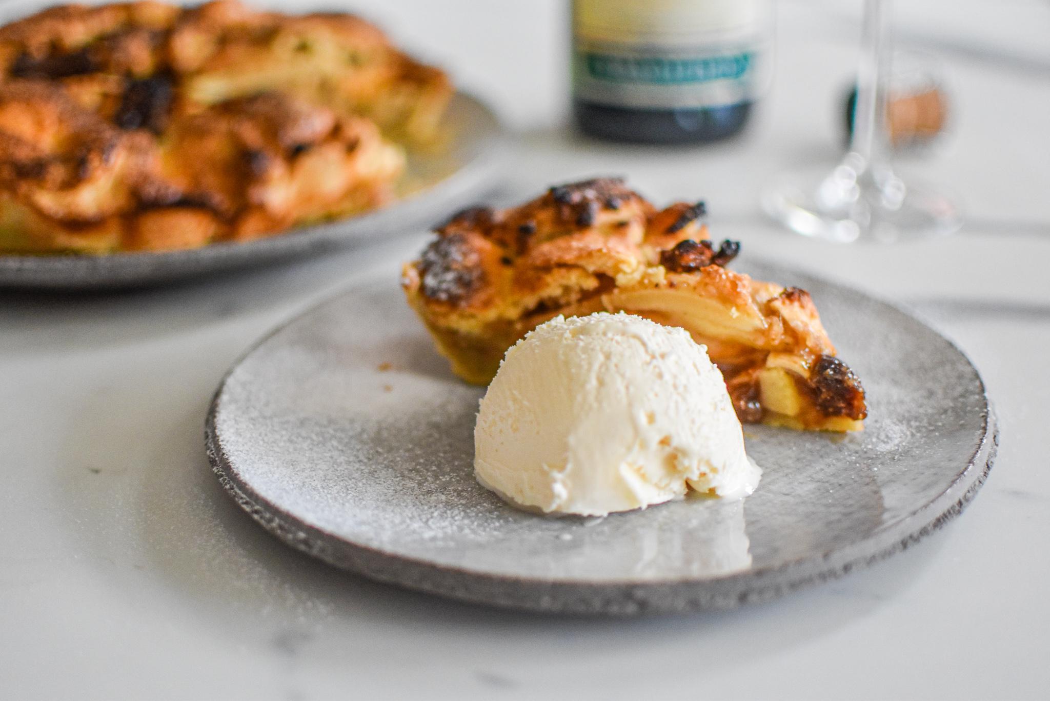 Robuuste appeltaart met vijgen en Clairette De Die