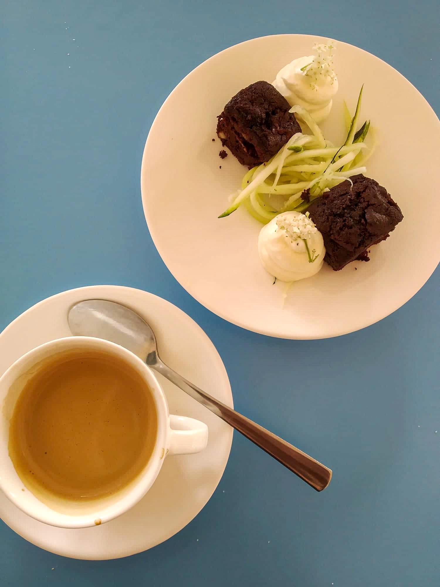 Koffie - Brownie - Courgette
